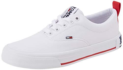 Tommy Jeans Damen LowCut Essential Sneaker, Weiß (White Ybs), 38 EU
