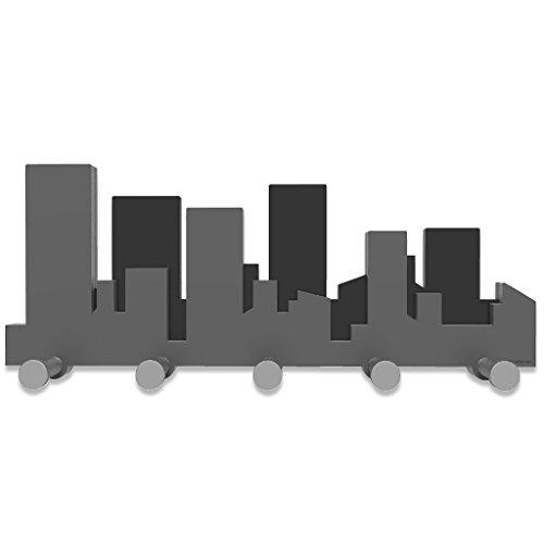 CalleaDesign Skyline - Perchero de pared, color gris