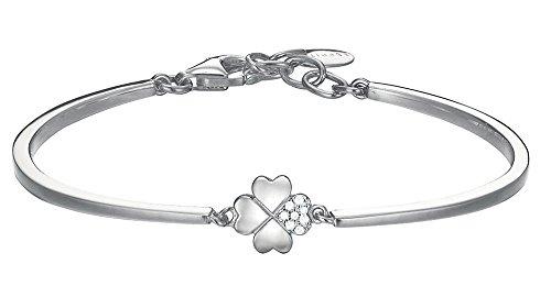 ESPRIT Damen-Armreif Lucky Love 925 Silber rhodiniert Zirkonia weiß Rundschliff 60 cm - ESBA91256A600