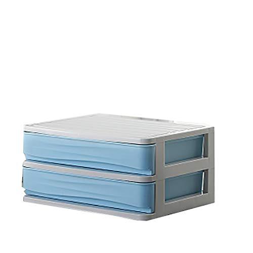 ZZRWJH Aktenschränke aus Kunststoff Desktop Schließfach Aktenschrank 1/2/2/4 Schicht Blau/Grau/Rosa Schubladentyp (Farbe : A, größe : 11.5cm)