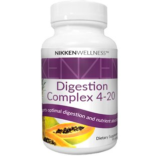 Nikken 1 Kenzen Digestion Complex 4 Enzymes 4-20 (15471) - For Digestive Health Include Lactase, Amylase, Lipase, Bromelain, Papain, Protease, Non-gmo - Digestive Enzyme Supplements - Vegan Probiotics