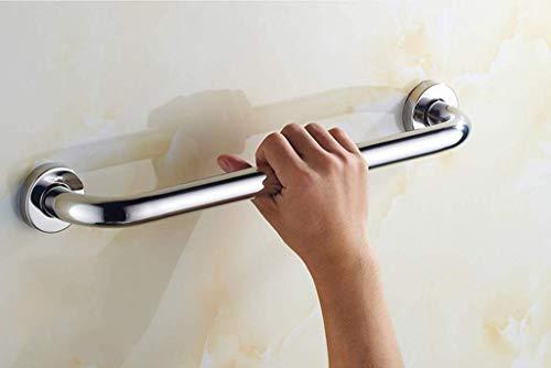 Asidero antideslizante para baño Asidero para barra de baño Barra de agarre antideslizante para baño, riel de agarre de acero cromado Pasamanos de soporte de seguridad de acero inoxidable con fijacio
