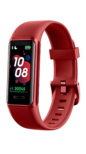 YAMAY Fitness Trackers,1.05' Touch Screen Fitness Watch with Alexa Built-in,Blood Oxygen,Heart Rate,Customized Watch Face Activity Trackers,Swimming Tracker,14 Sport Modes Smart Watch for Men Women