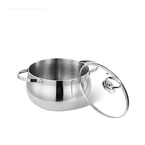 304 Pot À Soupe En Acier Inoxydable 20 cm Rehaussement Épais Anti-adhésif Ustensiles De Cuisine Oreille Cuisinière Cuisinière À Induction Universel
