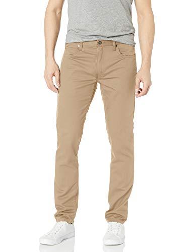 Dickies Men's Slim Taper 5-Pocket Pant, Stonewashed Desert Sand, 36W x 34L