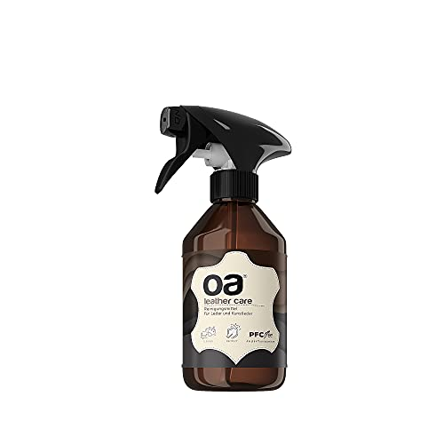 OA Leather Care Lederreiniger Auto & Ledercouch (250ml) - 100% PFC frei - Lederpflege für effektive Leder Reinigung - Leder & Kunstleder Reiniger für Sofa, Autositze, Handtasche, Schuhe, Jacke etc.
