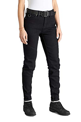 Pando Moto Kissaki Black Women Motorcycle Jeans CE Approved Single Layer Dyneema Slim Fit Motorbike Trousers Ladies