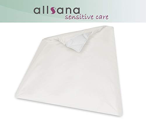 allsana Allergiker Deckenbezug 135x200 cm Allergie Bettwäsche Anti Milben Encasing Milbenschutz für Hausstauballergiker TÜV getestet