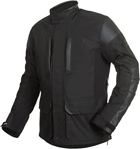 Rukka Melfort Gore-Tex - Giacca in tessuto da moto, colore: nero/argento, taglia 54