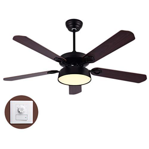 Luz del ventilador Ventilador de Techo 130 cm Sala de Estar Dormitorio Comedor Ventilador de Techo luz de Madera Velocidad Ajustable Ventilador de Techo luz (Color : B)
