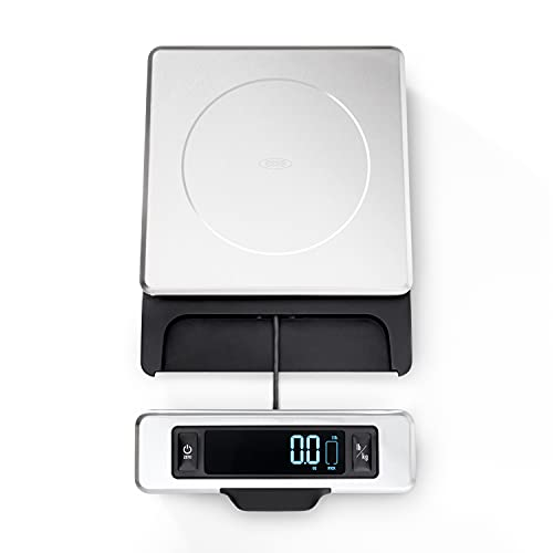 OXO 11214800 Good Grips 11 Pound Stainless Steel Food Scale with Pull-Out Display,Black,1.2