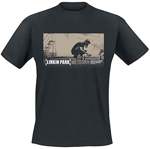 Linkin Park Meteora Hombre Camiseta Negro L, 100% algodón, Regular