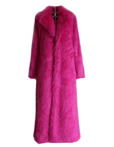 Huaishu Veste Chaude Femme Manteau Moelleux À Manches Longues Vêtements d'automne Hiver,Pink,S