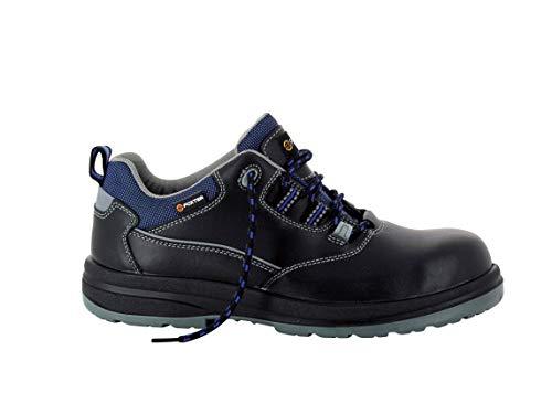 Foxter - Zapatos de Seguridad | Zapatillas de Trabajo para Hombre | Transpirables | Impermeable | Sin Metal | Piel Negra | S3 SRC