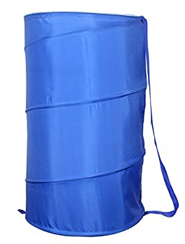 American Dream Home Goods Laundry Basket 18 x30  - Pop Up Hamper - Collapsible Foldable Laundry Bag in Blue