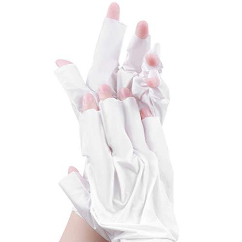 EXCEART 1 Paire de Masque Hydratant pour Les Mains Des Gants Hydratants Sains à L'huile de Noix de Coco pour Les Mains Sèches Protégeant Vos Peaux (Blanc)