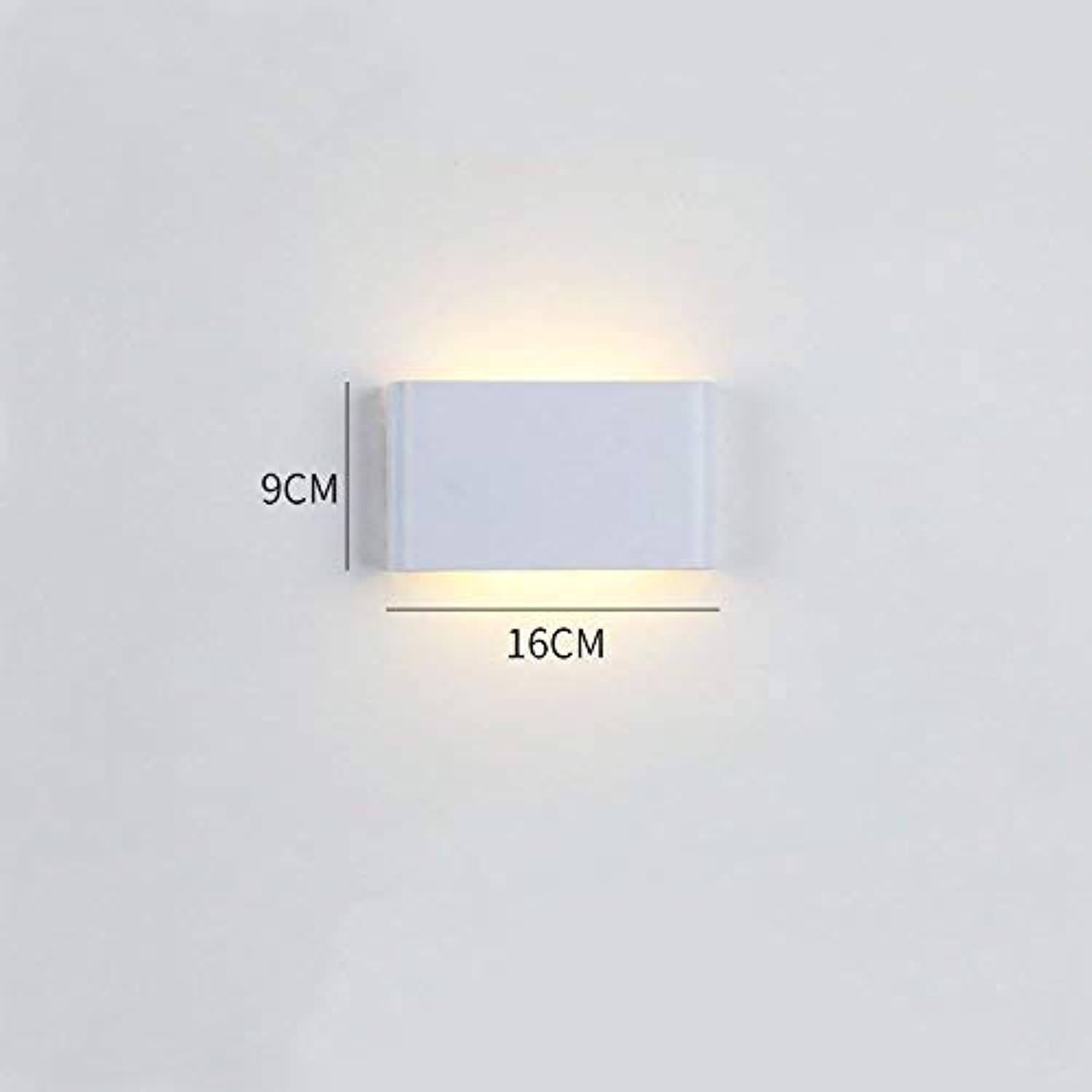 ATR E27 Aluminum Wall Lamp, Metal Bedside Lamp, for Living Room Bedroom Decoration, Multicolor and MultiSize Optional (color  A, Size  16cm)