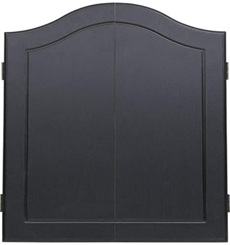 OUTLAW Stained Wooden Dart Board Cabinet, Black