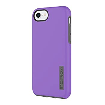 Incipio DualPro iPhone 8 & iPhone 7/6/6s Case with Shock-Absorbing Inner Core & Protective Outer Shell for iPhone 8 & iPhone 7/6/6s - Purple/Charcoal