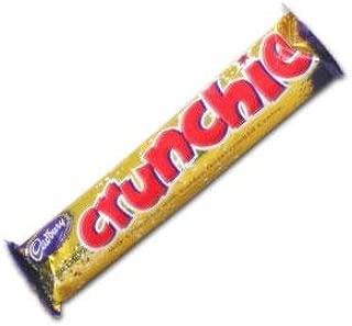 Cadbury Crunchie Chocolate Bar From England (Case of 48 x 40g Bars)