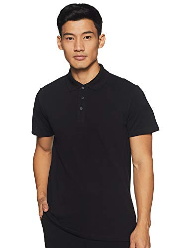 adidas Herren Essentials Basic Poloshirt, Black, M