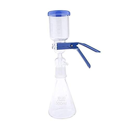Sucastle 500 ml Glasvakuumfiltration Destillationsanlagen 300 ml Büchner-Trichter 500 ml Erlenmeyerkolben