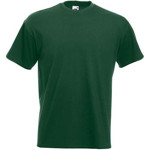Fruit of the Loom Valueweight-T-Shirt für Männer, kurze Ärmel, Rundhalsausschnitt (kein V-Ausschnitt) Gr. XXXL, flaschengrün