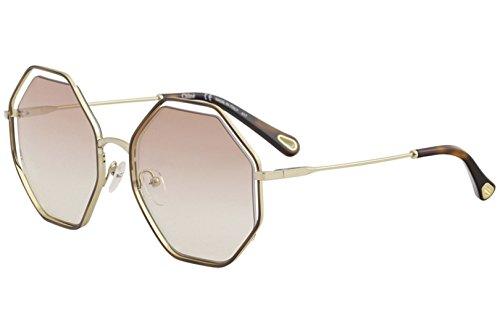 Chloè Ce132s Gafas de sol, Havana/Peach, 58 para Mujer