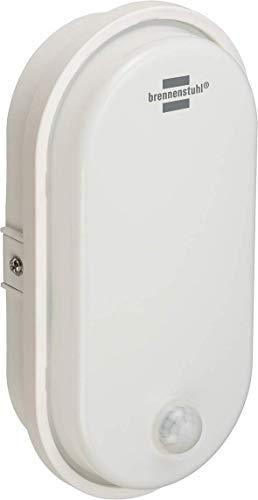 Brennenstuhl LED Ovalleuchte/Kellerleuchte mit Bewegungsmelder (für außen und innen, IP54, Außenleuchte 4000K)