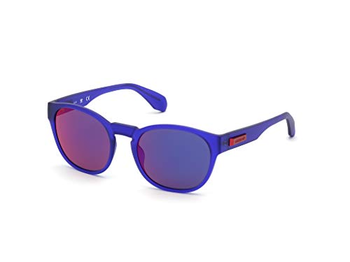 adidas OR0014 Gafas, matte violet/blu mirror, 54 Unisex Adulto