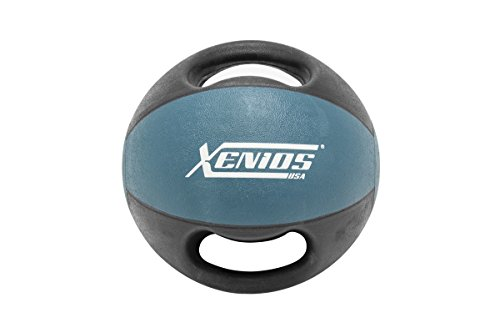 Xenios USA XSDGMBL9 Balón Medicinal con Asas - - 9 Kg Double Grip Med Ball