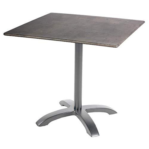 OUTLIV. Gartentisch Bistrotisch 80x80cm Smartline Aluminium/Topalit Outdoor Tisch