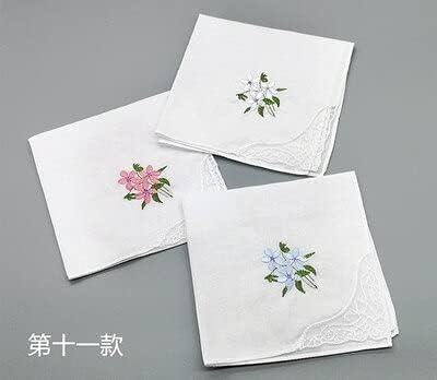 SushiSwap 3pcs Embroidery Flower White Handkerchiefs Ladies Lace Handkerchief Women Cotton Towels Chustki Zakdoek Fazzoletto Mouchoir H09 - See Chart - 354998