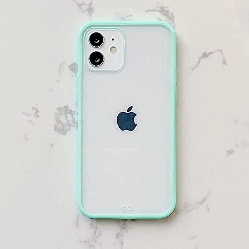 para iPhone SE 2020 Sky Blue Soft Soft Candy Candy Carwn Funda para 11 12 Mini Pro MAX XS X XR MAX 7 8 Plus Se 2020 Cubiertas de Silicona