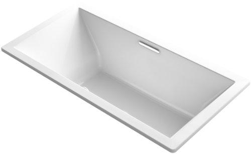 KOHLER K-1834-0 Underscore Rectangle Bathtub, White
