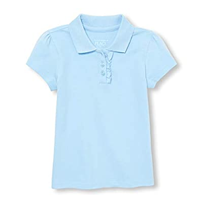 The Children's Place Girls Toddler Uniform Ruffle Pique Polo, Day Break, 2T