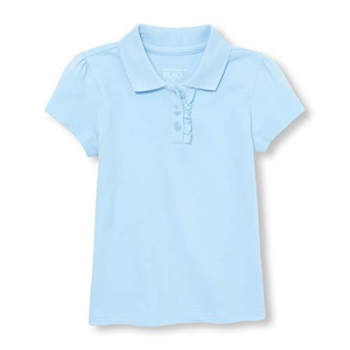 The Children's Place Baby Girls' Toddler Uniform Short Sleeve Polo, Day Break-Ruffle 43572, 3T