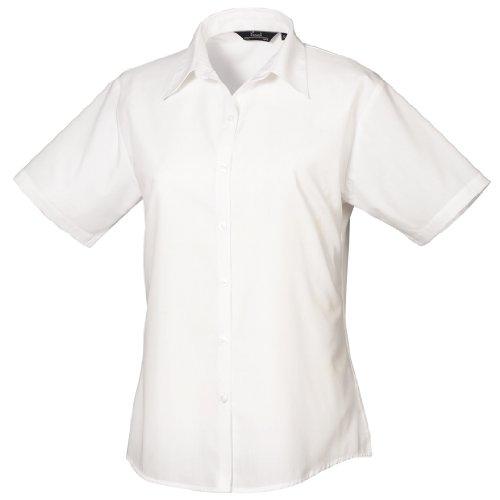 Premier Kurzarm Popeline-Hemd Weiß 22