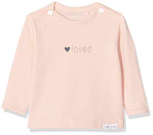 Noppies Baby-Mädchen G Tee ls Yvon tekst T-Shirt, Rosa (Peach Skin P214), (Herstellergröße: 68)