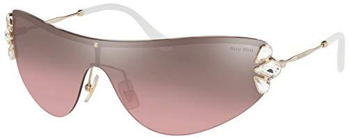 Miu Miu Gafas de sol MU 66US NÚCLEO de la COLECCIÓN de ZVN7L1 de oro rosa de tamaño de 48 mm de gafas de sol de las mujeres