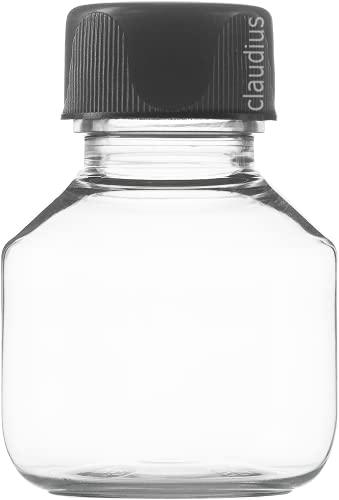 Lege Plastic Flessen 50 ml – 10 stuks – Veral Clear 28 – met zwarte dop – nr. 86
