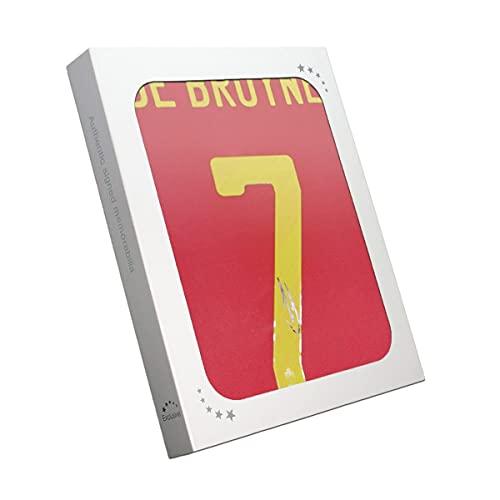 Exclusive Memorabilia Belgien Trikot von Kevin De Bruyne signiert. Geschenkbox