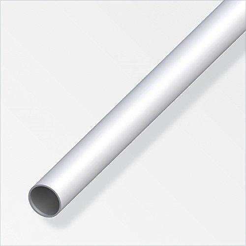 Rundrohr 1m x 8mm x 1mm, silber eloxiert Aluminium
