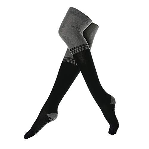 ALXLX Grip Socken Non Slip Slipper Socken for Damen Frauen, Über Knie-Schenkel Fußball-Socken Sport-Knie-Socken, Lange Schlauch-Strumpf-hohe Stiefel Oberschenkel Socke (Color : B)