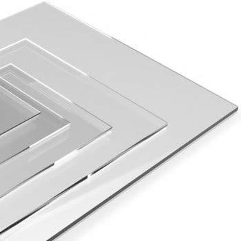 Signalétique.biz® - Matières Première - Plaque Plexi Polycarbonate - Verre Acrylique Transparent - PMMA XT - Différentes Tailles Disponible - 40 x 40 cm - Épaisseur 4 mm
