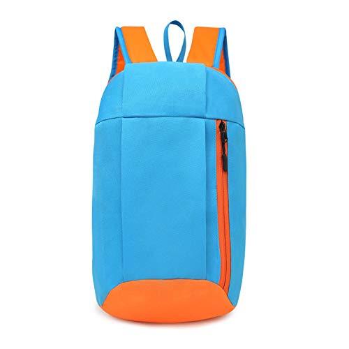 REBKW Mochila deportiva unisex para senderismo, mochila de viaje, para hombres y mujeres, mochila de colegio, mochila de ocio al aire libre, gran capacidad (azul cielo, Estados Unidos)