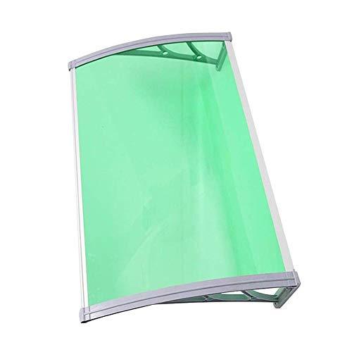 WXQ Eingangstür EIN Überdach Vordach Haustür Terrassentür Vordach Außentür Markise Polycarbonat-Hohlkammerplatte Pultvordach Für Türen, Fenster Und Terrassen (Color : Green, Size : 60cmx80cm)