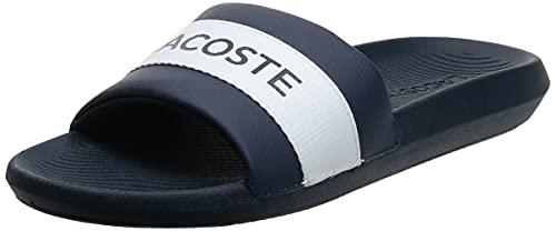Lacoste Croco Slide 0721 1 CMA, Zapatillas Hombre, Nvy/Wht, 47 EU