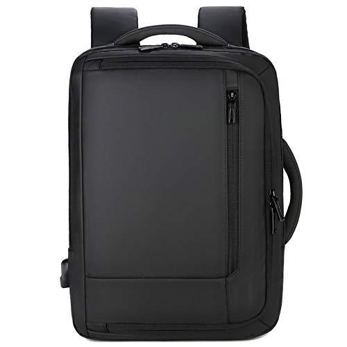 LQRYJDZ 大容量ビジネスノートパソコン用リュックサックトラベルコンピュータバックパック(USB充電ポート付き)、女性と男性用のプロフェッショナル防水カレッジスクールデイパック、Fits14-15-15.6インチノートパソコンとノート(黒) (Color : Black, Size : 14 inches)
