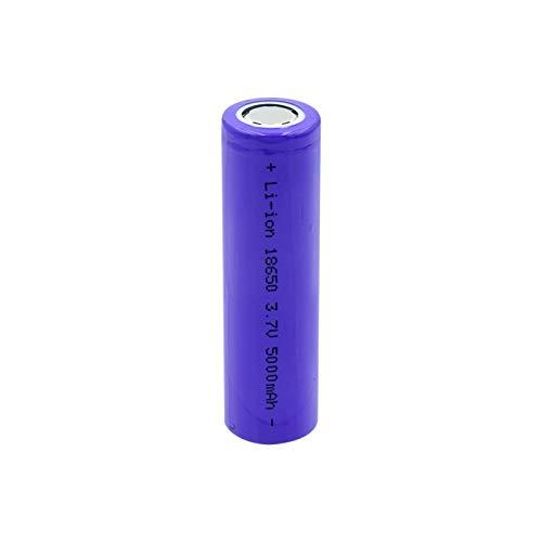Moifer 1pcs Flat Top 18650 5000mah 3.7 v Wiederaufladbare Lithium-Batterie, für Taschenlampe Power Bank Stirnlampe Taschenlampe Funkkamera Fernbedienung Camera